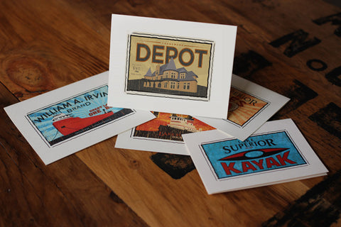 the depot fruit crate label notecards