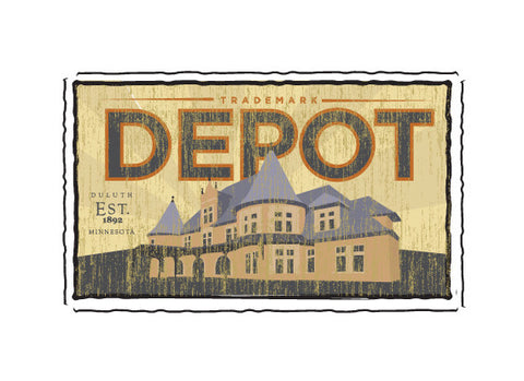 the depot fruit crate label