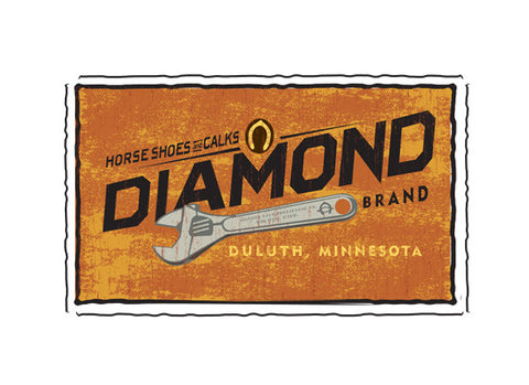 diamond tool fruit crate label