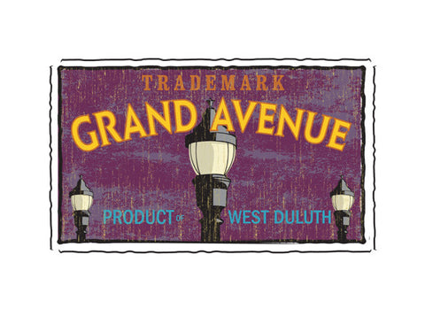 grand avenue duluth fruit crate label