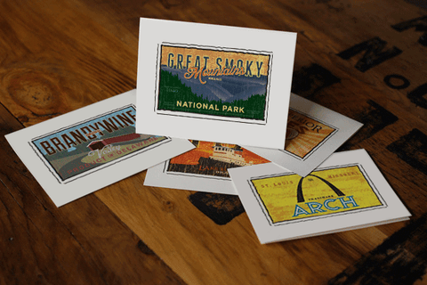 great smoky mountains national park fruit crate label notecards