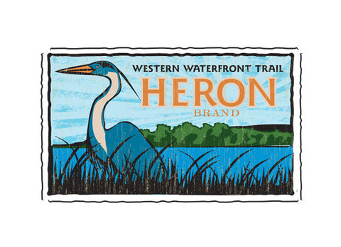 western waterfront trail fruit crate label