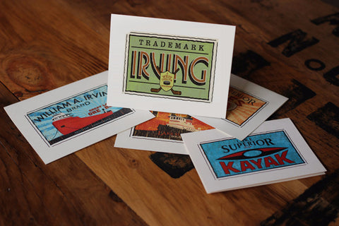 irving park duluth minnesota fruit crate label notecards