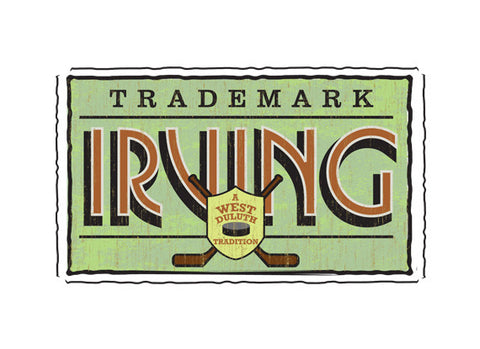 irving park duluth minnesota fruit crate label