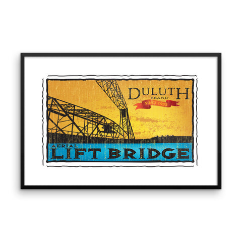 Aerial Lift Bridge framed poster