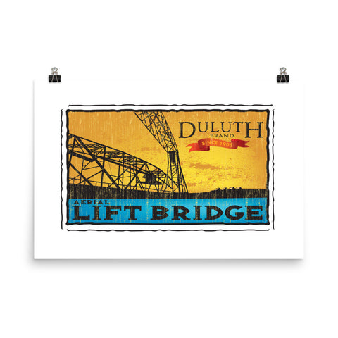Aerial Lift Bridge Poster