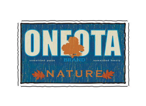oneota fruit crate label