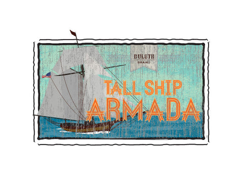 tall ships duluth fruit crate label