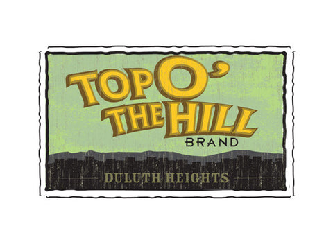 top o the hill fruit crate label