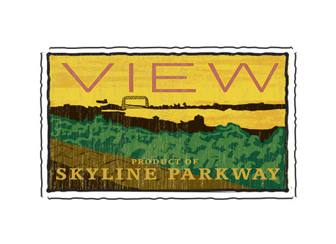 skyline parkway fruit crate label