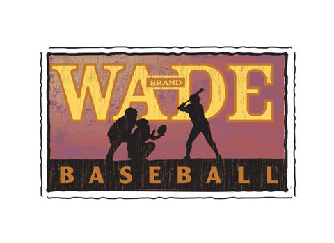 wade stadium fruit crate label