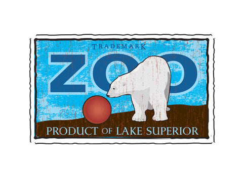 lake superior zoo fruit crate label