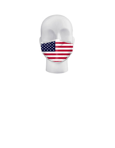 USA FLAGS - 3 DIFFERENT DESIGNS IN FACE MASKS - TEENAGE & ADULTS (OSFM)