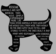 RESCUED ANIMALS ARE NOT BROKEN VERSE