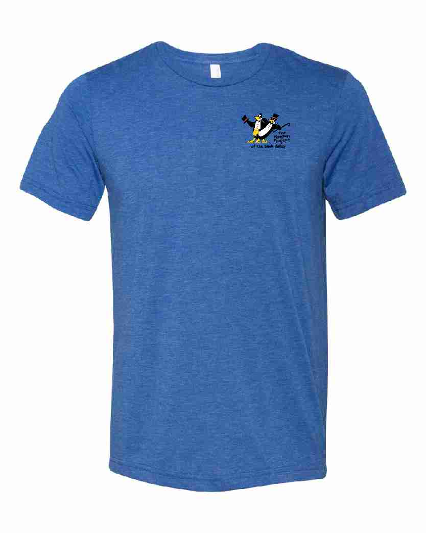 THE PENGUIN PROJECT OF THE SAUK VALLEY t-shirt fundraiser - ROYAL - ADULT SIZES
