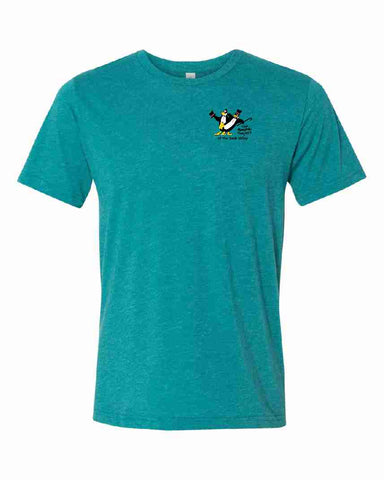 THE PENGUIN PROJECT OF THE SAUK VALLEY t-shirt fundraiser - TEAL - ADULT SIZES