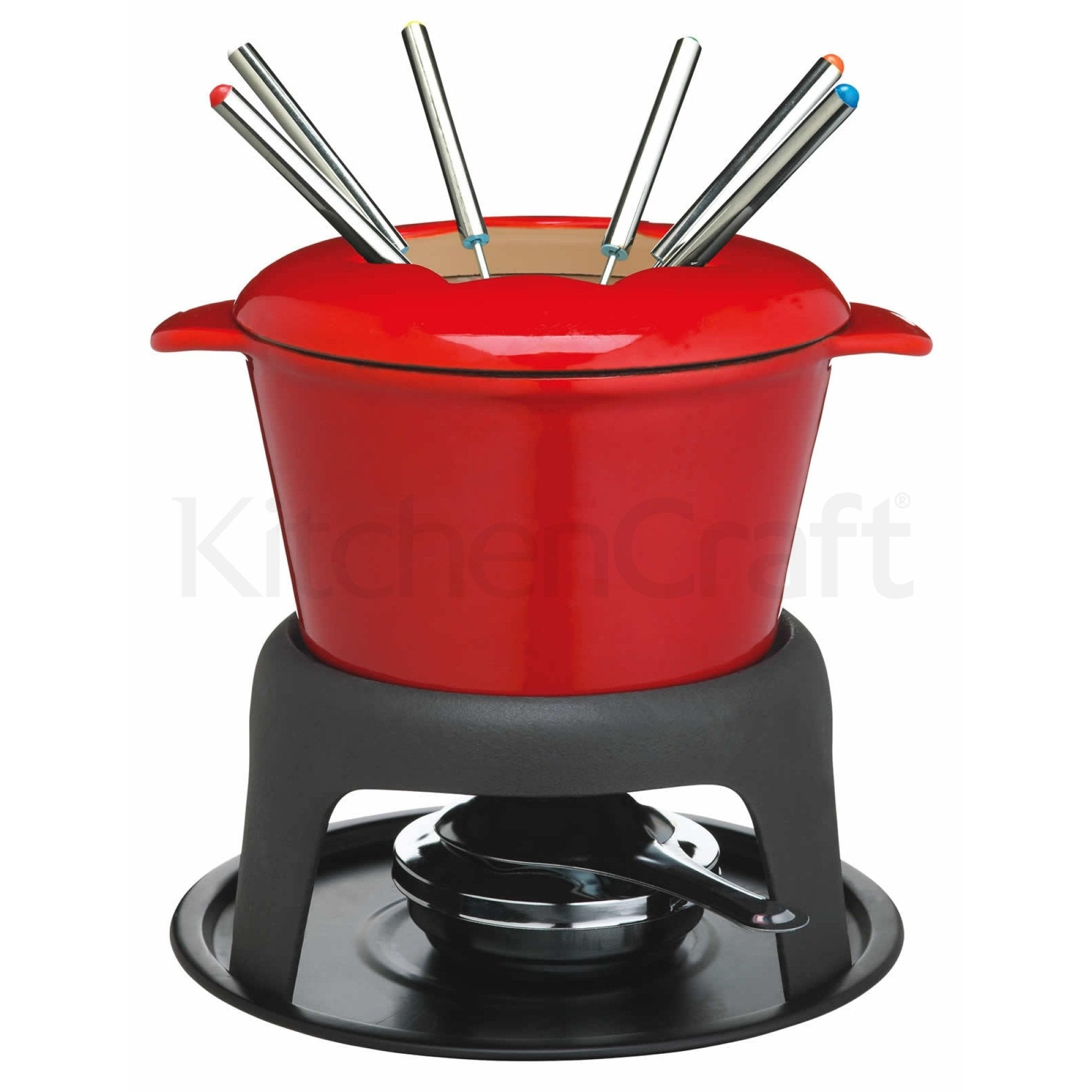 Set Fondue Red din fonta