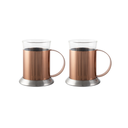 Set 2 cupe din sticlă Copper La Cafetiere