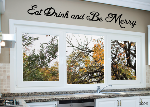 Eat Drink Be Merry Wall Sticker 0006