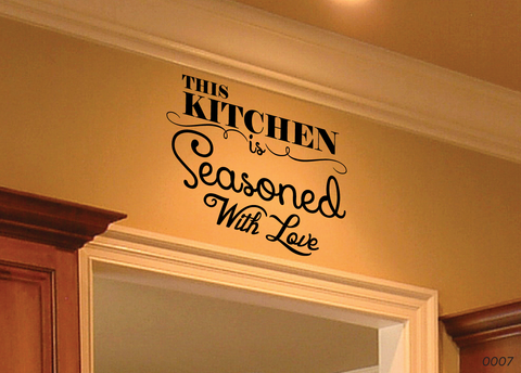 This Kitchen Is Seasoned With Love Wall Decal 0007