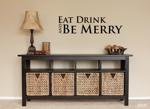Eat Drink Be Merry Wall Sticker 0011