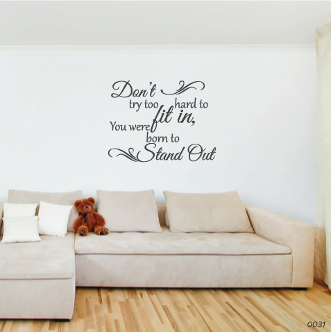 Stand Out Wall Sticker 0031