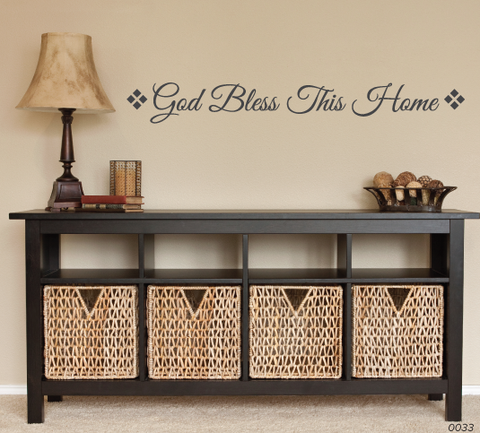 God Bless This Home Wall Decal 0033