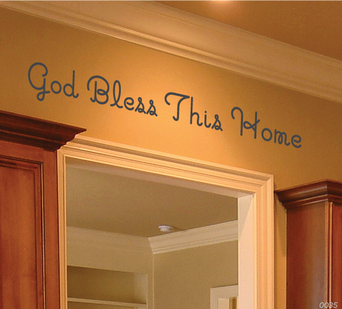 God Bless This Home Wall Vinyl Decal 0035