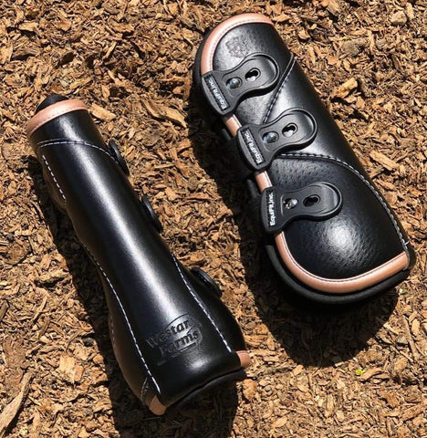 Equifit DTeq Boots Rose Gold and Black