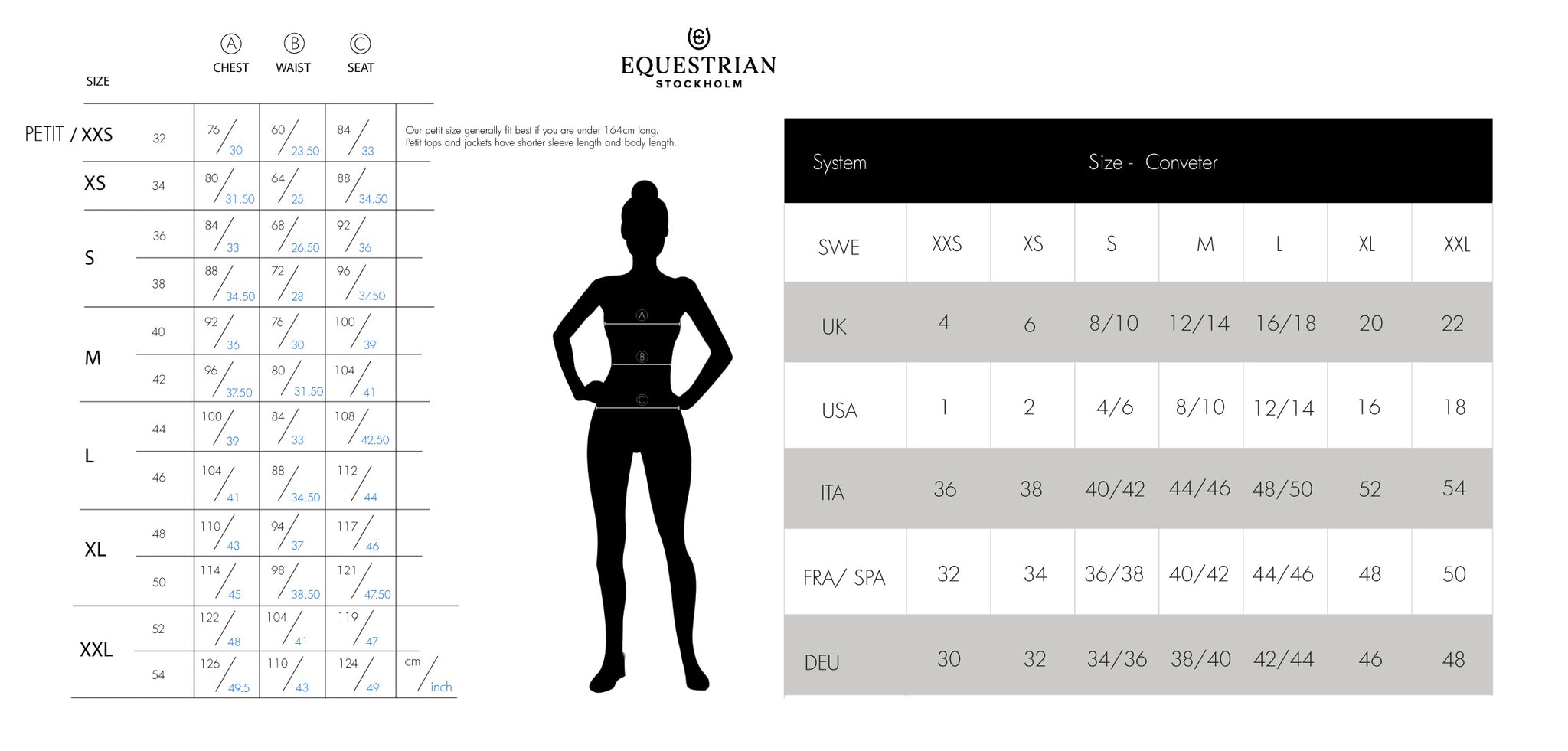 ES Womens size guide