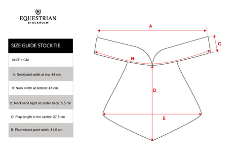 Equestrian Stockholm Stock Tie Size Guide