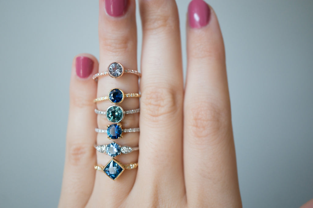Deep Blue Montana Sapphire Engagement Ring S Kind Amp Co