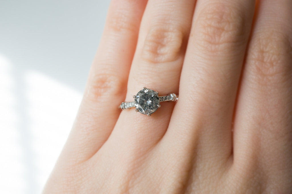 bd09fb9645d78 Fancy Grey Diamond Forte Engagement Ring – S. Kind & Co