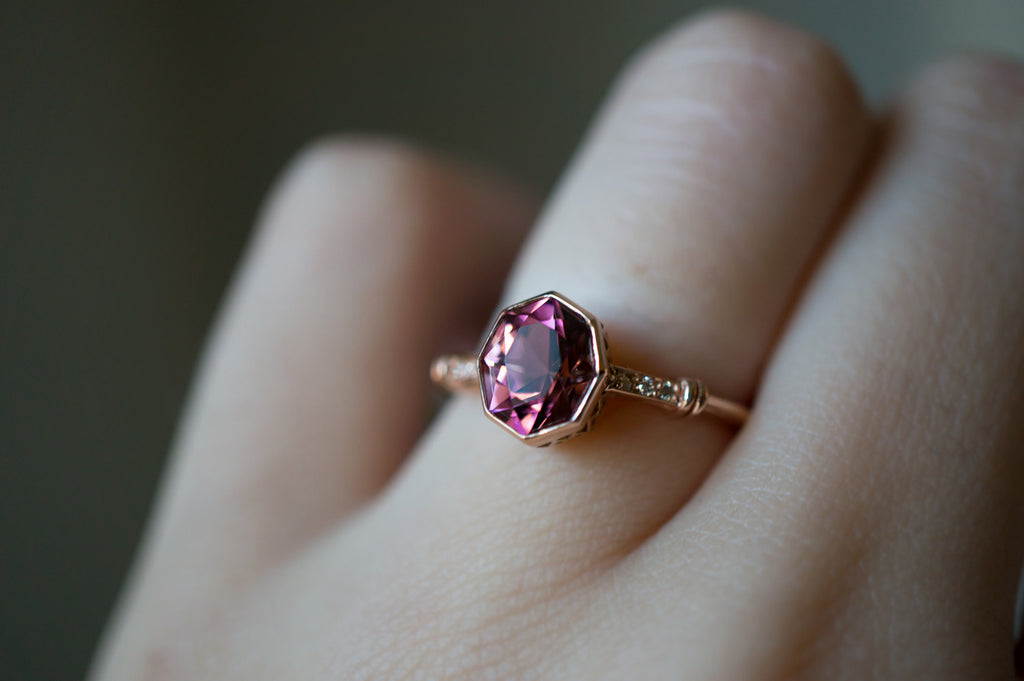 sterling watermelon on rose size engagement gemstone tourmaline cut wanelo ring silver natural rings shop