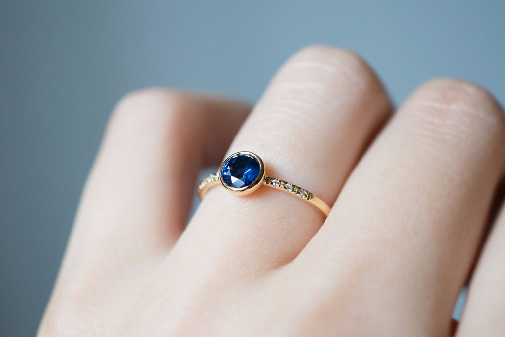 deep edition sapphire limited in products plated gold ring black blue