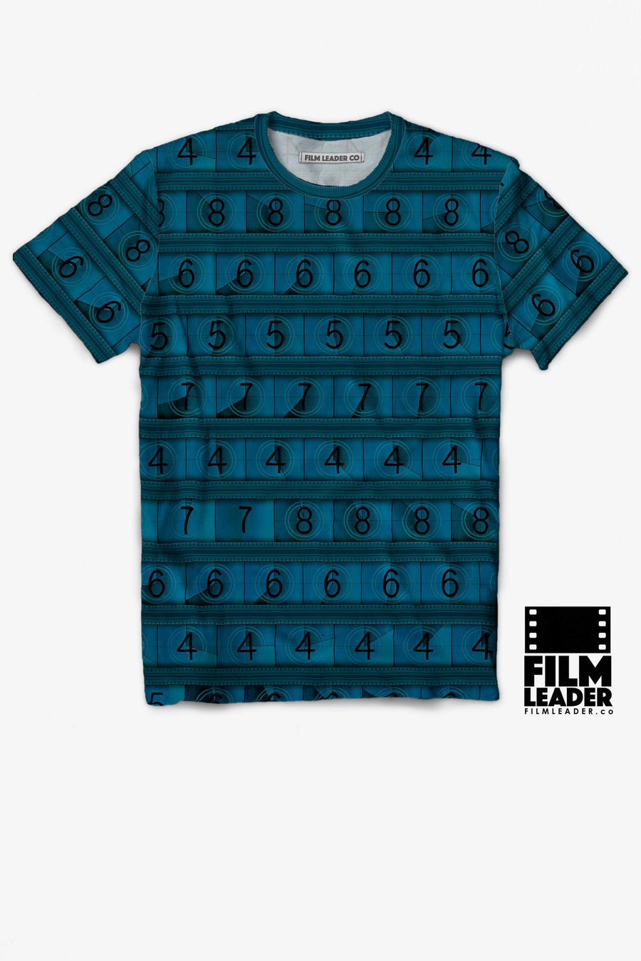 Crew Neck T Shirt with Dark Turquoise 15/70mm Countdown