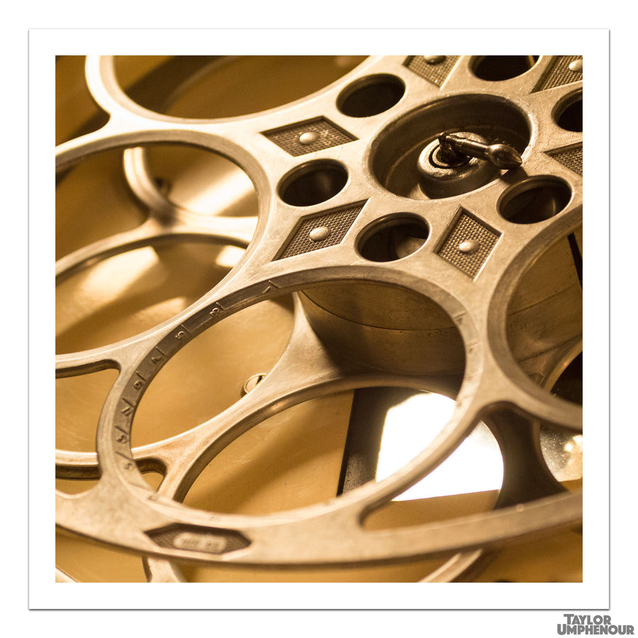 The Empty Film Reel (Square Print) from Taylor Umphenour's The Cue Dot