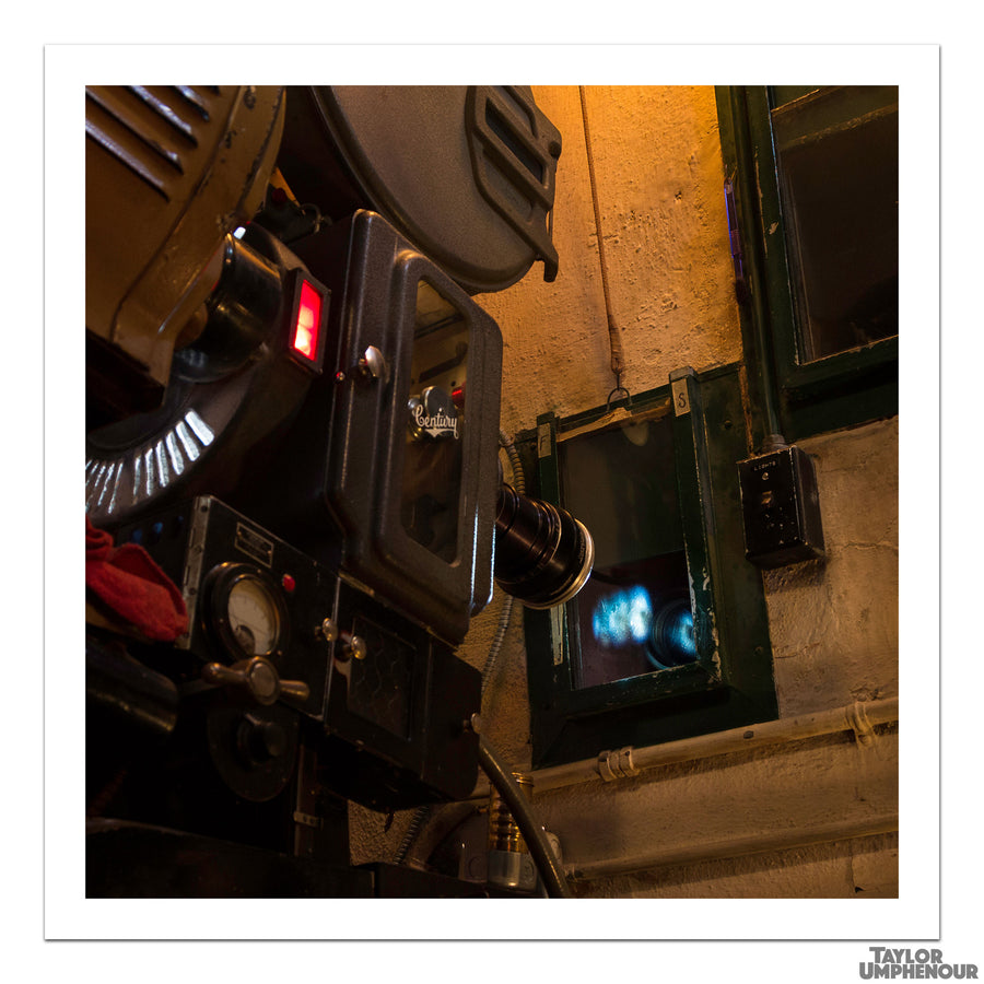 The Film Projector (Square Print) from Taylor Umphenour's The Cue Dot