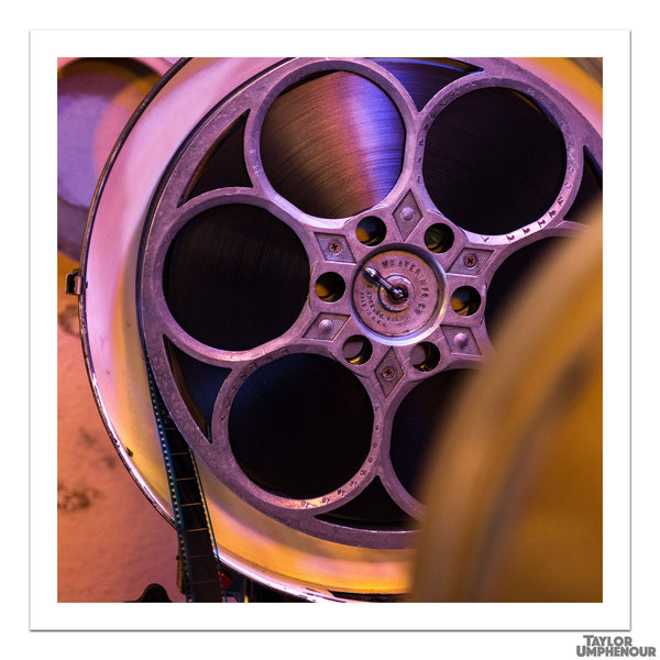 Reel of 35mm Film, Purple (Square Print) from Taylor Umphenour's The Cue Dot