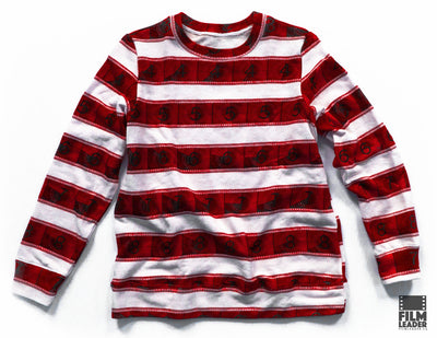 Classic Sweatshirt with Red IMAX 15/70mm Countdown Wide Stripe on White