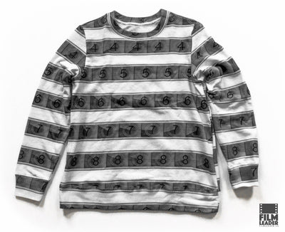 Classic Sweatshirt with B&W IMAX 15/70mm Countdown Wide Stripe on White