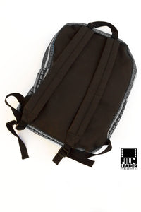 Backpack with B&W 35mm Countdown Film Leaders, Tight Stripe #1