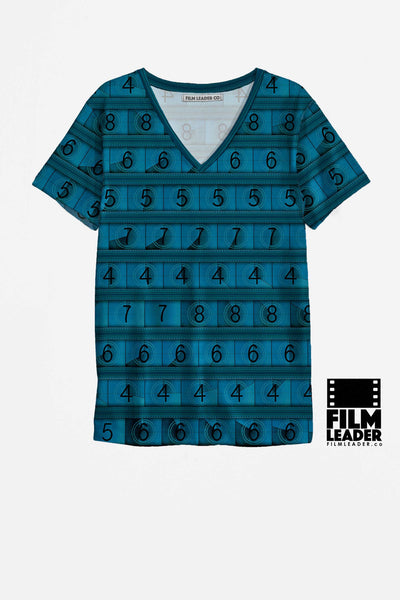 V Neck T Shirt with Dark Turquoise 15/70mm Countdown