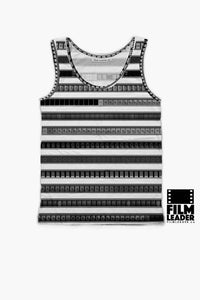 Tank Top with B&W 35mm Leader Stripes (Pattern #1)
