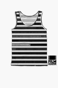 Tank Top with B&W 35mm Leader Stripes (Pattern #2)