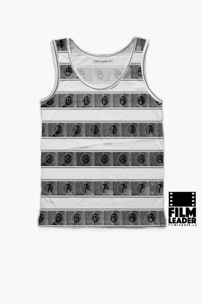 Tank Top with B&W 15/70mm Countdown Stripes