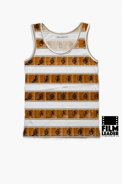 Tank Top with Sepia 15/70mm Countdown Stripes