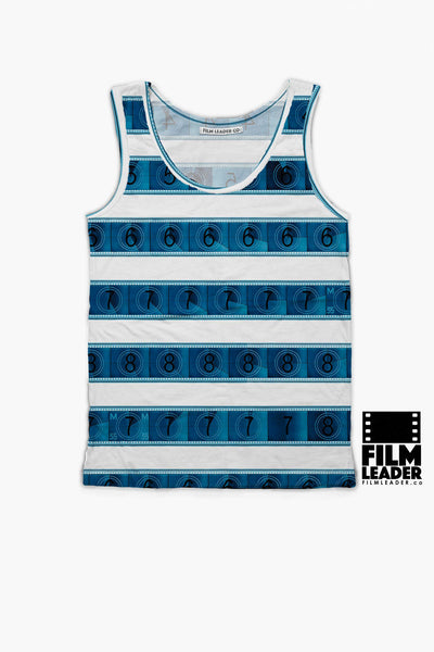 Tank Top with Blue 15/70mm Countdown Stripes