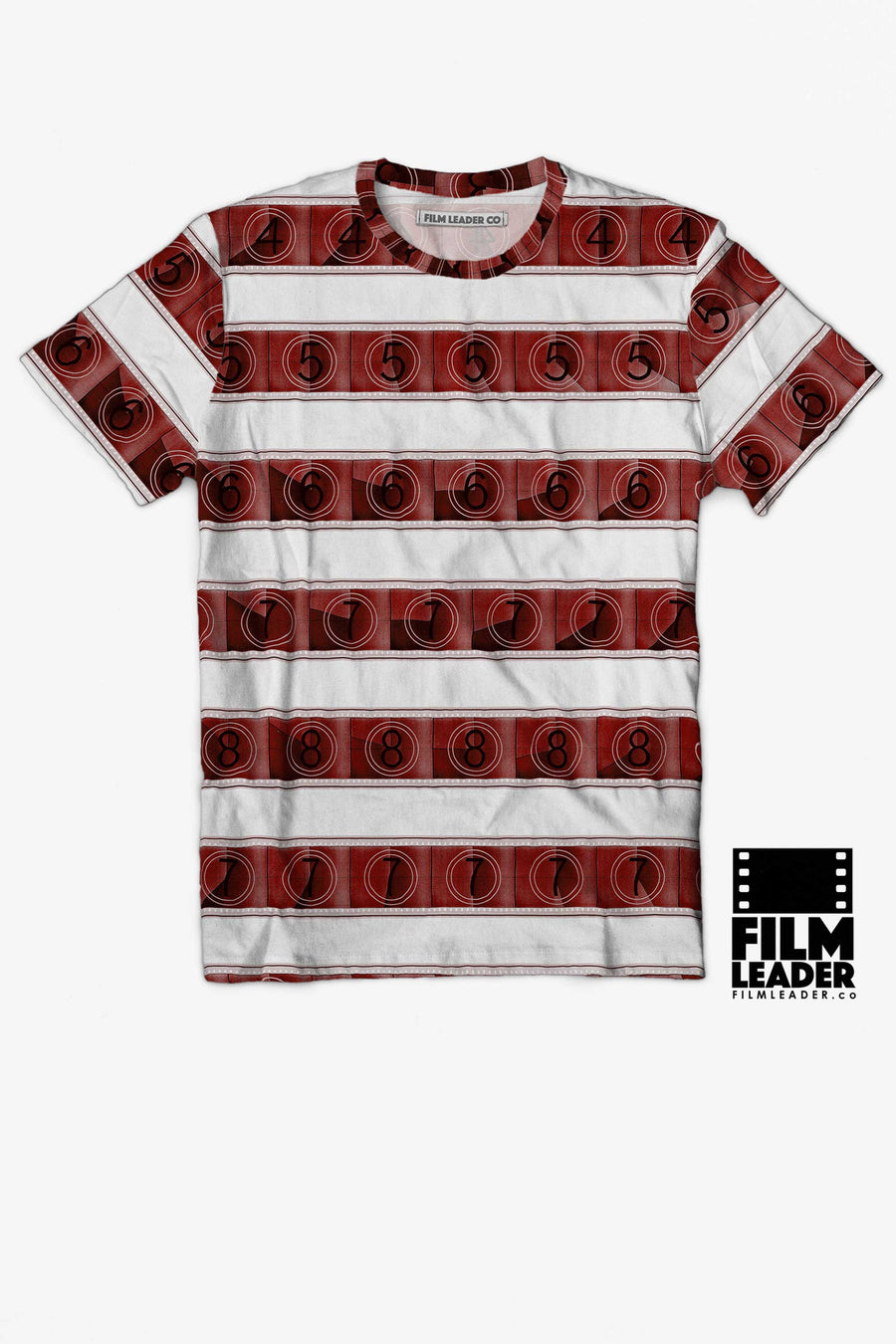 Crew Neck T Shirt with Red 15/70mm Countdown Stripes