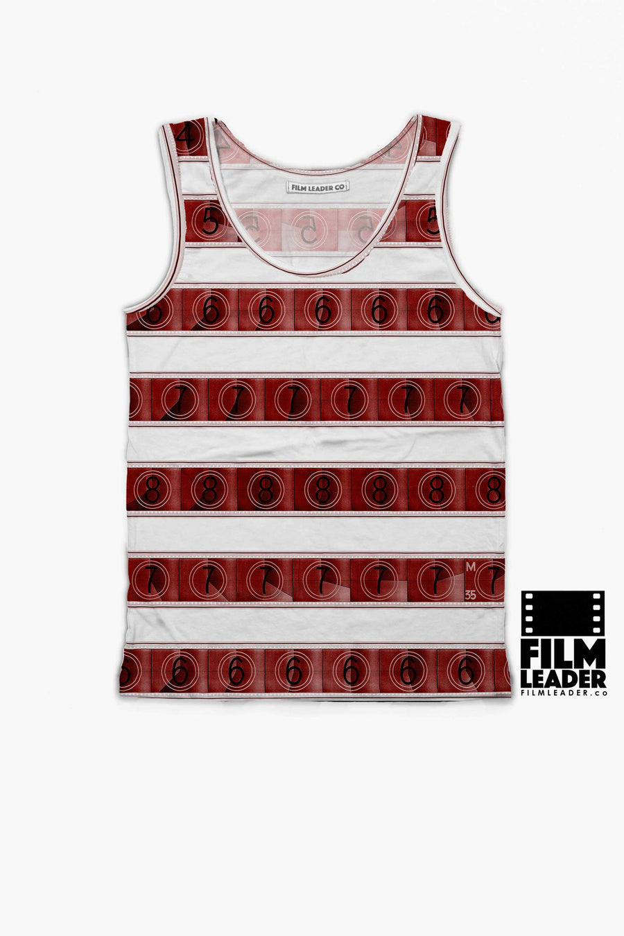 Tank Top with Red 15/70mm Countdown Stripes